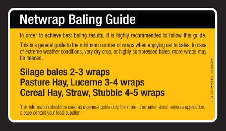 Netwrap Baling Guide